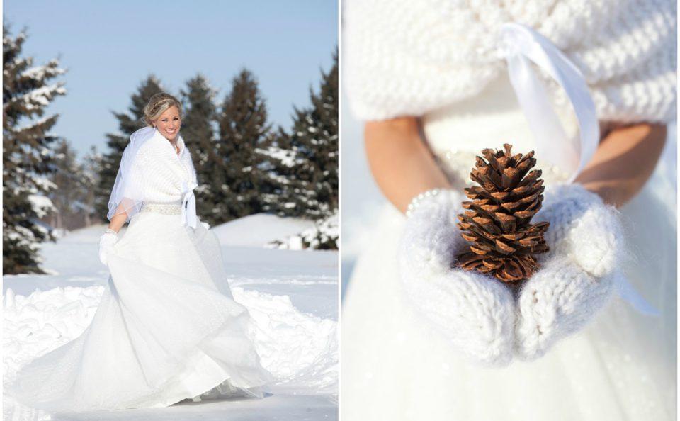 Свадебное платье для зимы